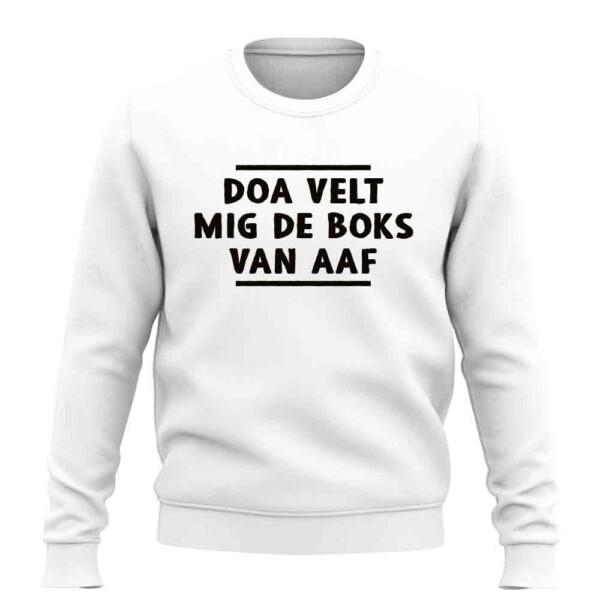 DOA VELT MIG DE BOKS VAN AAF SWEATER