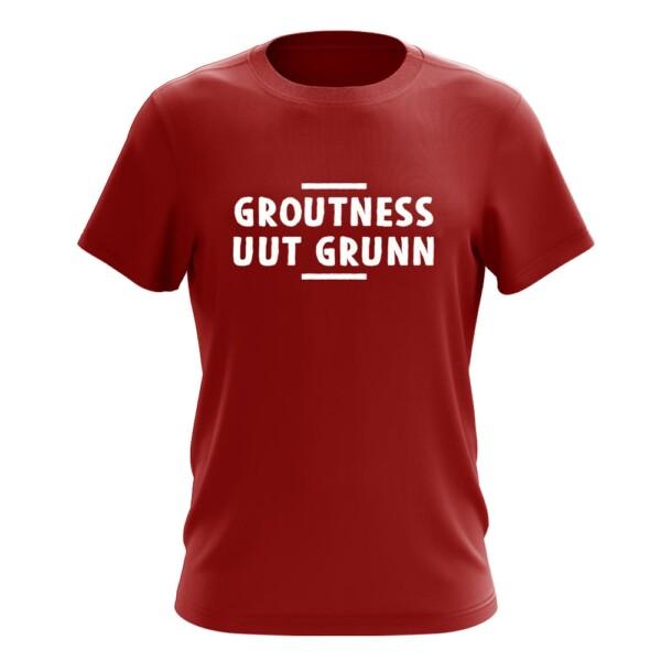 GROUTNESS UUT GRUNN T-SHIRT